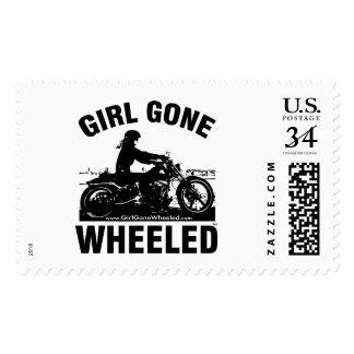 Girl Gone Wheeled Custom USPS Postage