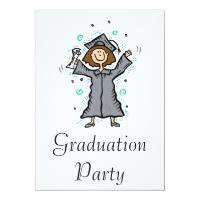Girl Grad Celebration Custom Invitations