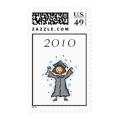 Girl Grad Celebration Stamp