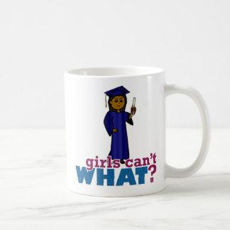 Girl Graduate in Blue Gown Coffee Mug