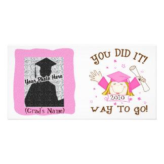 Girl Graduate Kindergarten / Preschool Photo Card