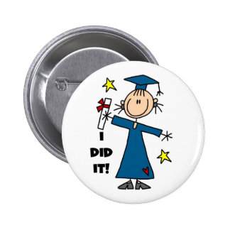 Girl Graduate Pinback Button