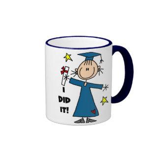 Girl Graduate Ringer Coffee Mug