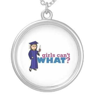 Girl Graduation in Blue Gown Custom Necklace