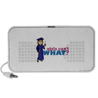 Girl Graduation in Blue Gown Speaker System