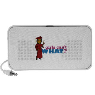 Girl Graduation in Red Speakers