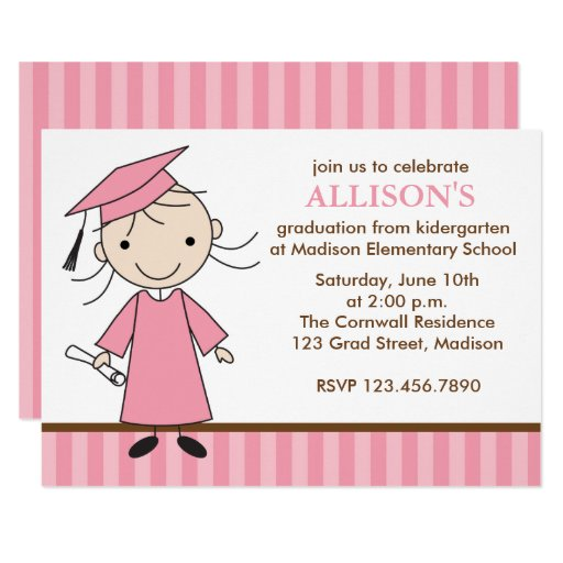 Girl Graduation Party Invitations