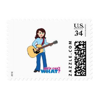 Girl Guitar Player Postage