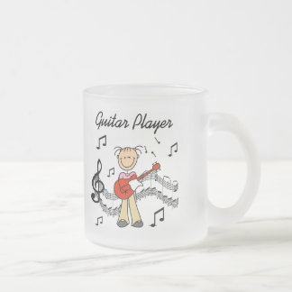 Girl Guitar Player Tshirts and Gifts Frosted Glass Coffee Mug