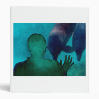 Girl hand up dolphins back grunged binders