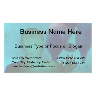 Girl hand up dolphins back grunged Double-Sided standard business cards (Pack of 100)