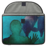 Girl hand up dolphins back grunged sleeves for MacBook pro