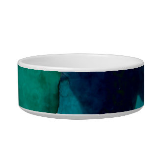 Girl hand up dolphins back grunged pet bowls