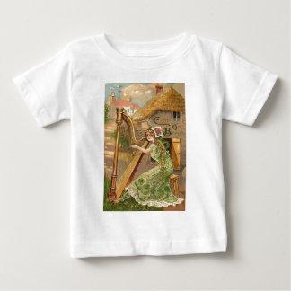 Girl Harp Rose Shamrock Erin Go Braugh Baby T-Shirt
