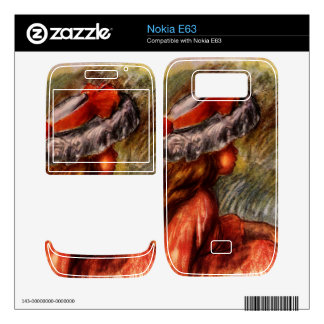 Girl head by Pierre Renoir Skins For The Nokia E63