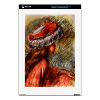 Girl head by Pierre Renoir PS3 Console Skins