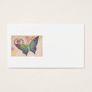 Girl Heart Rose Butterfly Valentine Business Card