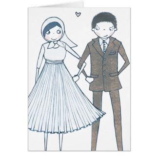 Girl Hearts Boy Wedding | Congratulations Card