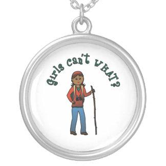 Girl Hiker Custom Necklace