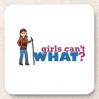 Girl Hiking Beverage Coaster