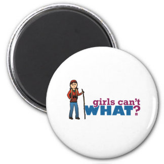 Girl Hiking 2 Inch Round Magnet