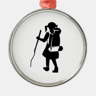 Girl Hiking Christmas Tree Ornaments