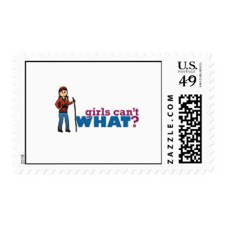 Girl Hiking Stamp