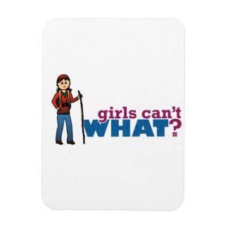 Girl Hiking Rectangular Photo Magnet