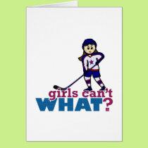 Girl Hockey Player Card