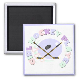 Girl Hockey Player Tshirts and Gifts Fridge Magnet