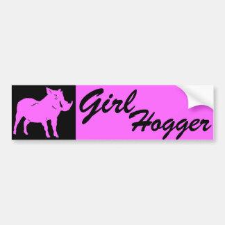 GIRL HOGGER BUMPER STICKER