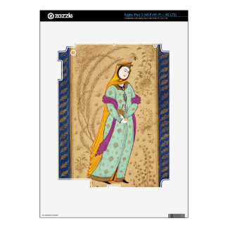 Girl holding a wine vessel and a pear, from the La Skins For iPad 3