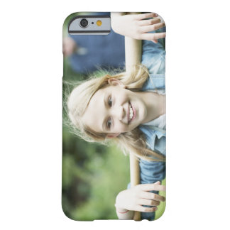 Girl holding baseball bat barely there iPhone 6 case