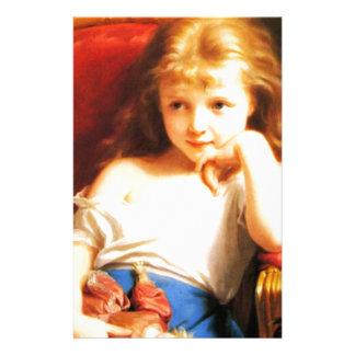 Girl Holding Doll (Vintage Art) Stationery