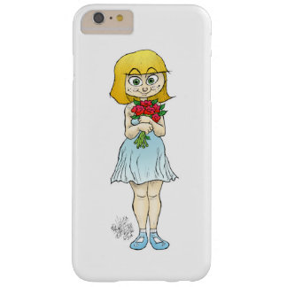 Girl holding flowers, on a Iphone6 cover. Barely There iPhone 6 Plus Case