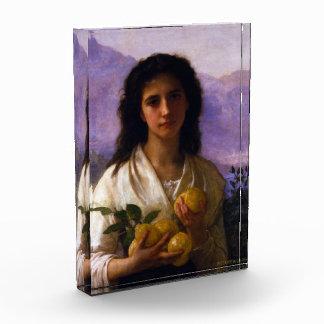Girl Holding Lemons by William-Adolphe Bouguereau Acrylic Award