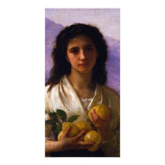 Girl Holding Lemons by William-Adolphe Bouguereau Card
