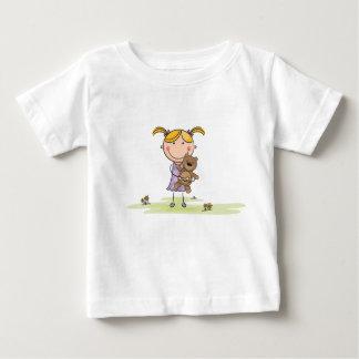 Girl holding Teddybear Baby T-Shirt