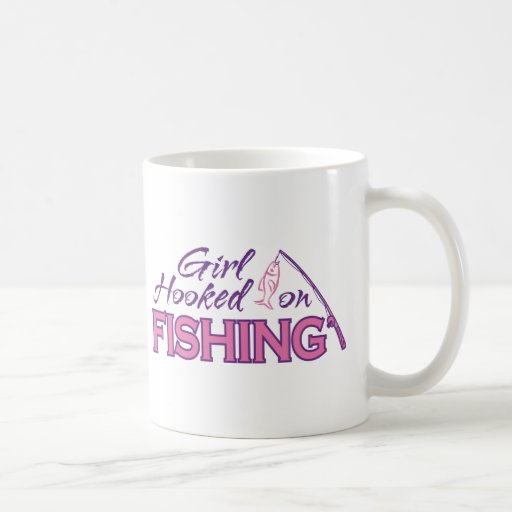 Girl Hooked on Fishing Coffee Mug