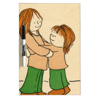 Girl Hug Dry-Erase Board