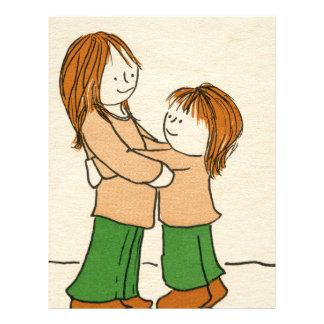 Girl Hug Letterhead