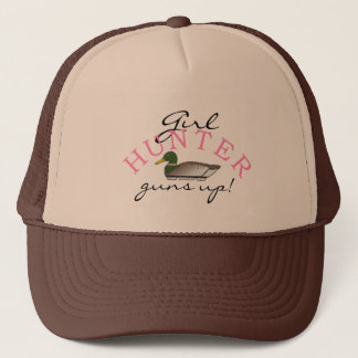 Girl Hunter Duck Decoy Trucker Hat