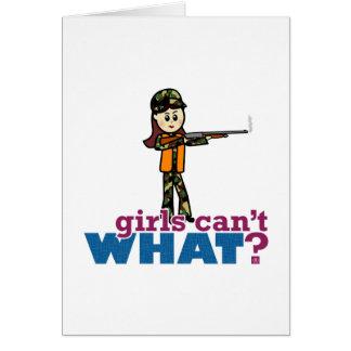 Girl Hunting Greeting Card