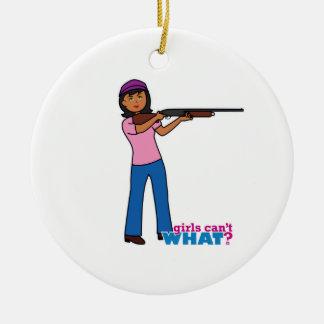 Girl Hunting Christmas Ornament