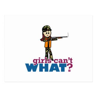 Girl Hunting Postcard