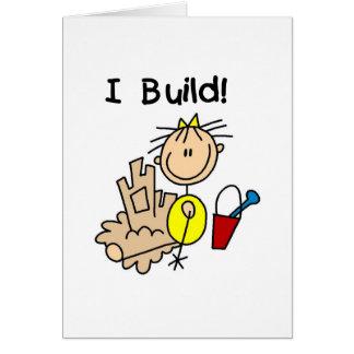 Girl I Build Sand Castles Card
