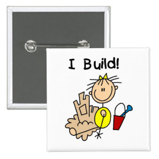 Girl I Build T-shirts and Gifts Pin