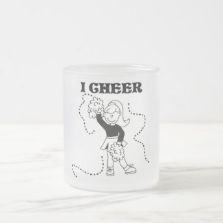 Girl I Cheer Tshirts and Gifts Frosted Glass Coffee Mug