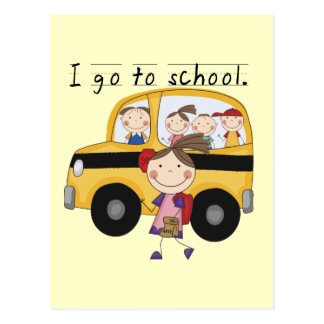 Girl I Go To  School T-shirts and Gifts Postcard