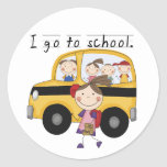 Girl I Go To  School T-shirts and Gifts Round Sticker